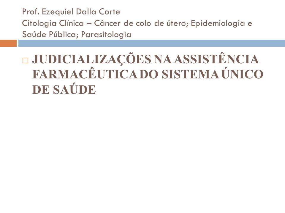 JUDICIALIZAÇÕES NA ASSISTÊNCIA FARMACÊUTICA DO SISTEMA ÚNICO DE SAÚDE