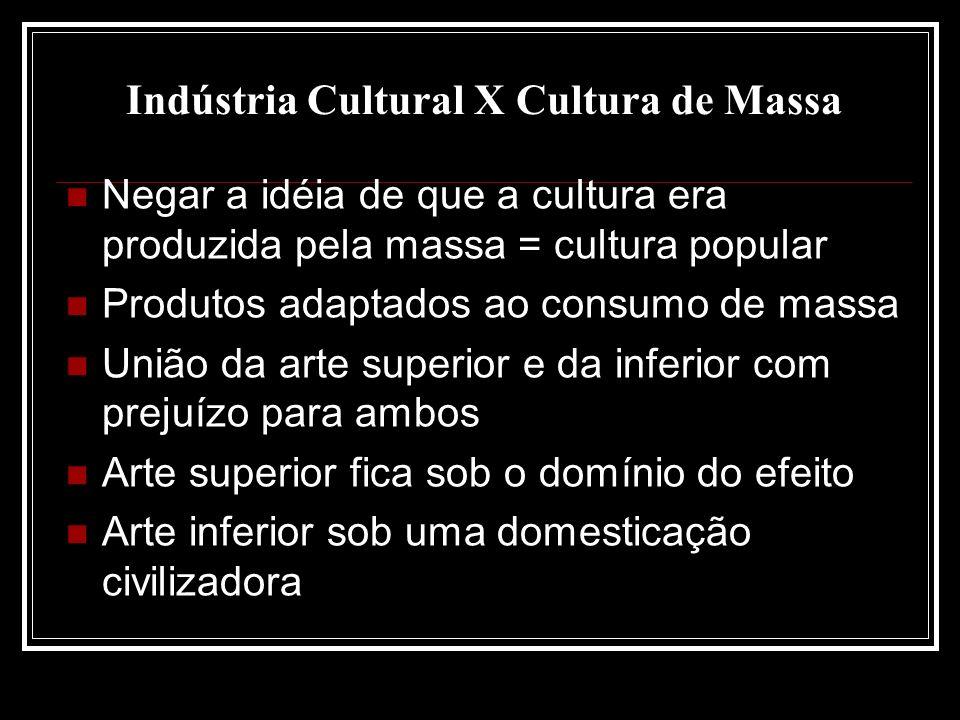 Indústria Cultural X Cultura de Massa