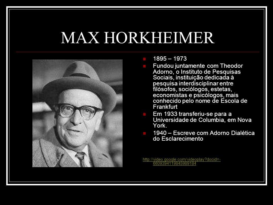MAX HORKHEIMER 1895 – 1973.