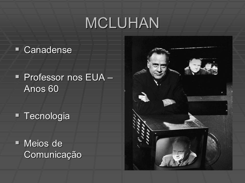 MCLUHAN Canadense Professor nos EUA – Anos 60 Tecnologia