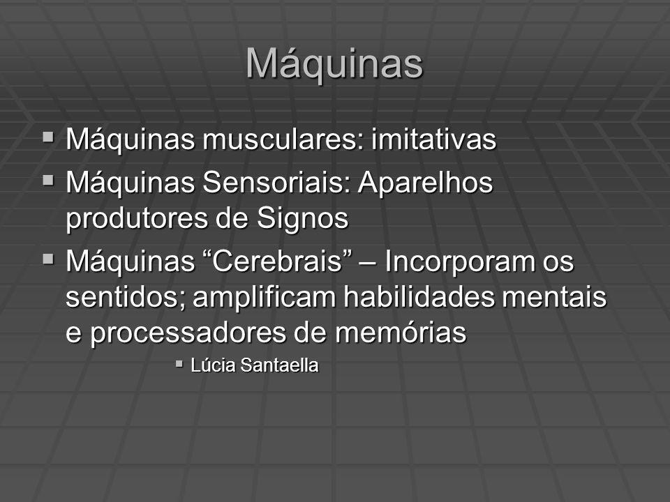 Máquinas Máquinas musculares: imitativas