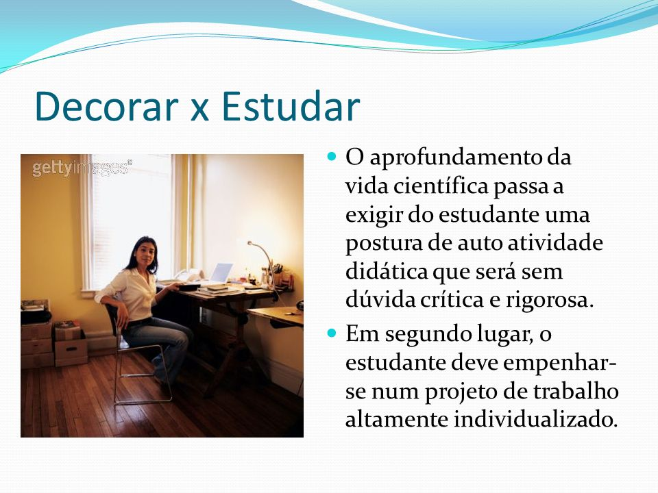 Decorar x Estudar