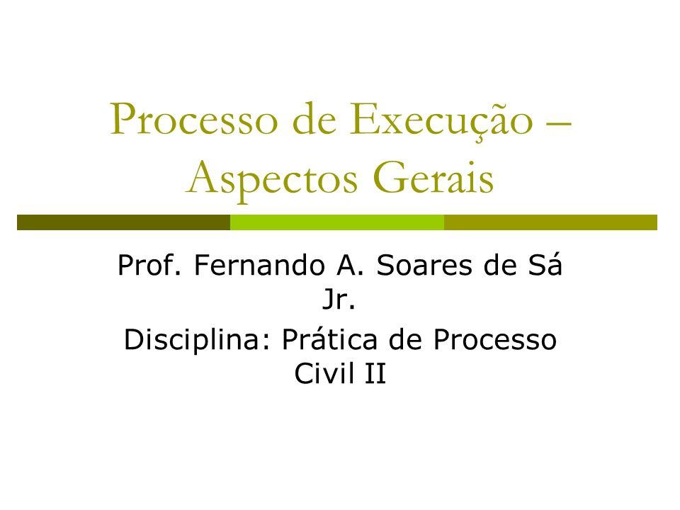 Processo de Execução – Aspectos Gerais