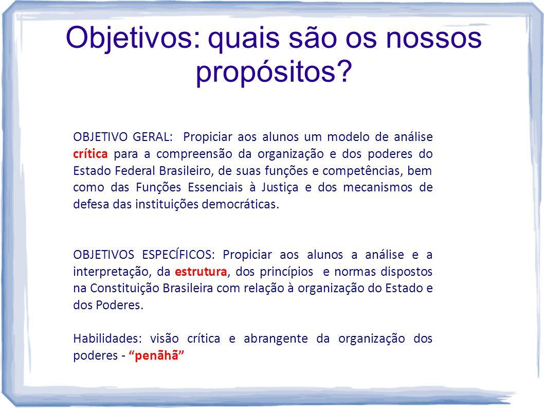 Objetivos: quais são os nossos propósitos