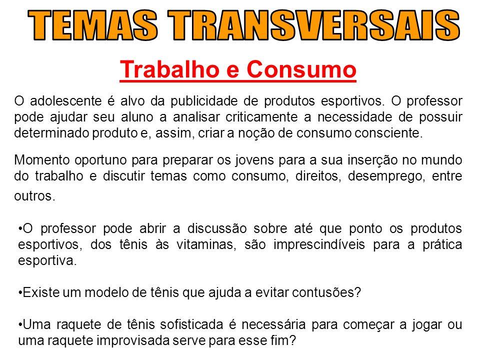 TEMAS TRANSVERSAIS Trabalho e Consumo