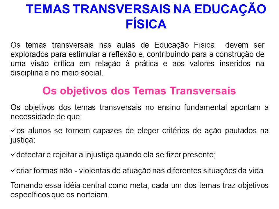 TEMAS TRANSVERSAIS NA EDUCAÇÃO FÍSICA