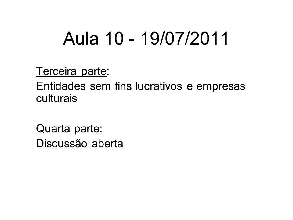 Aula 10 - 19/07/2011 Terceira parte: