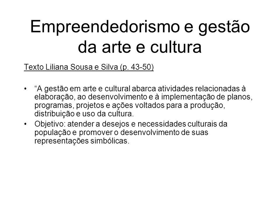 Empreendedorismo e gestão da arte e cultura
