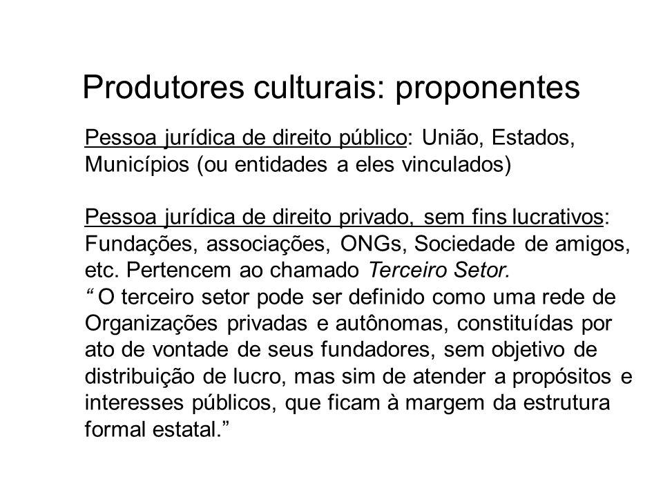 Produtores culturais: proponentes