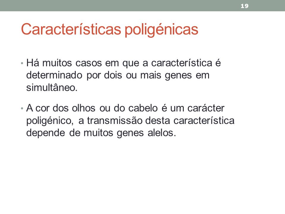 Características poligénicas