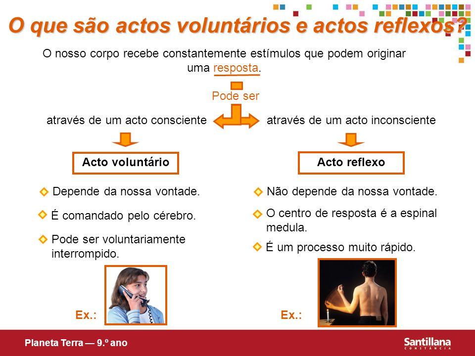 O que são actos voluntários e actos reflexos