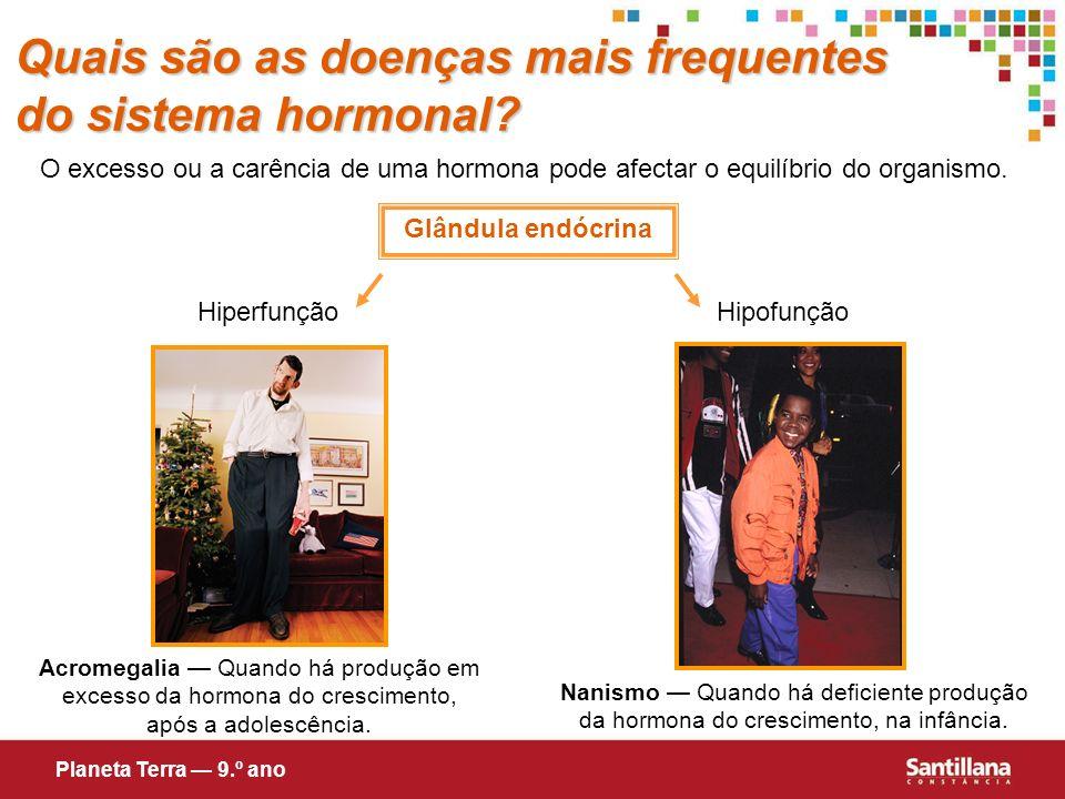Quais são as doenças mais frequentes do sistema hormonal