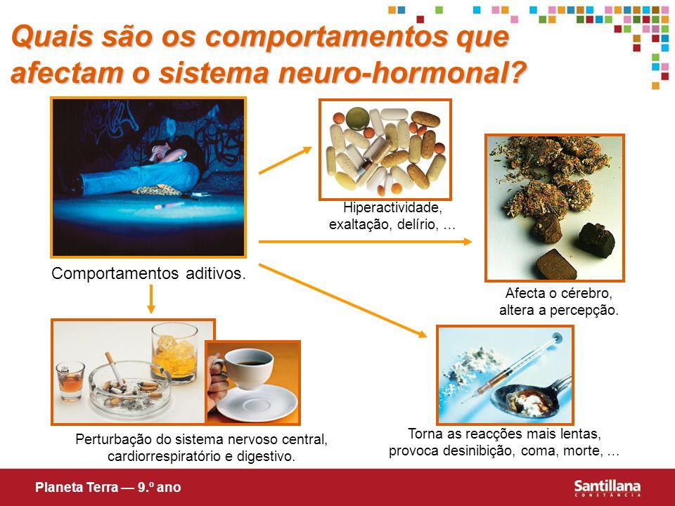 Quais são os comportamentos que afectam o sistema neuro-hormonal