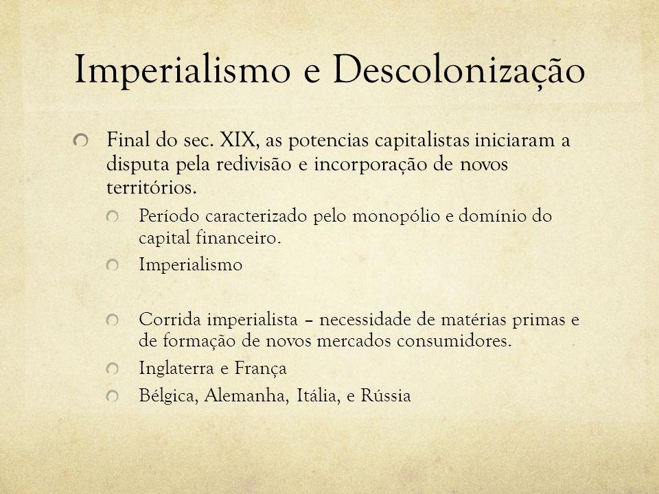 Imperialismo e Descolonização
