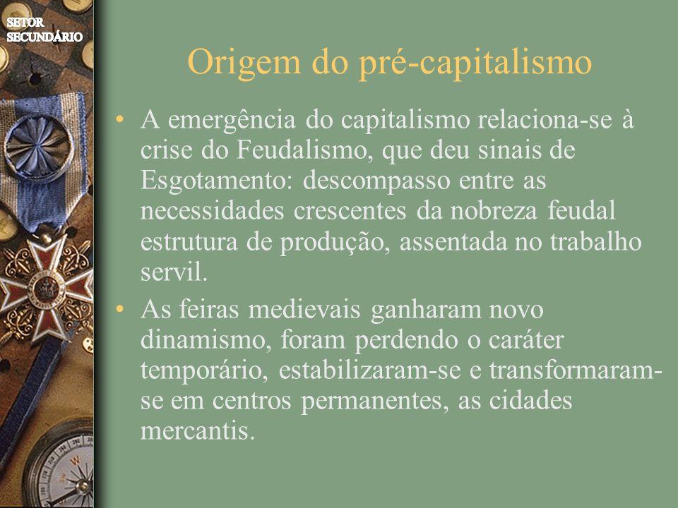 Origem do pré-capitalismo