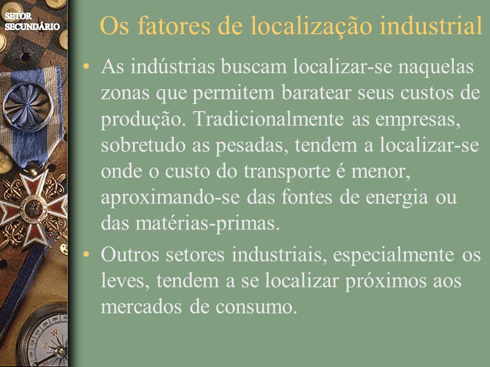 Os fatores de localização industrial
