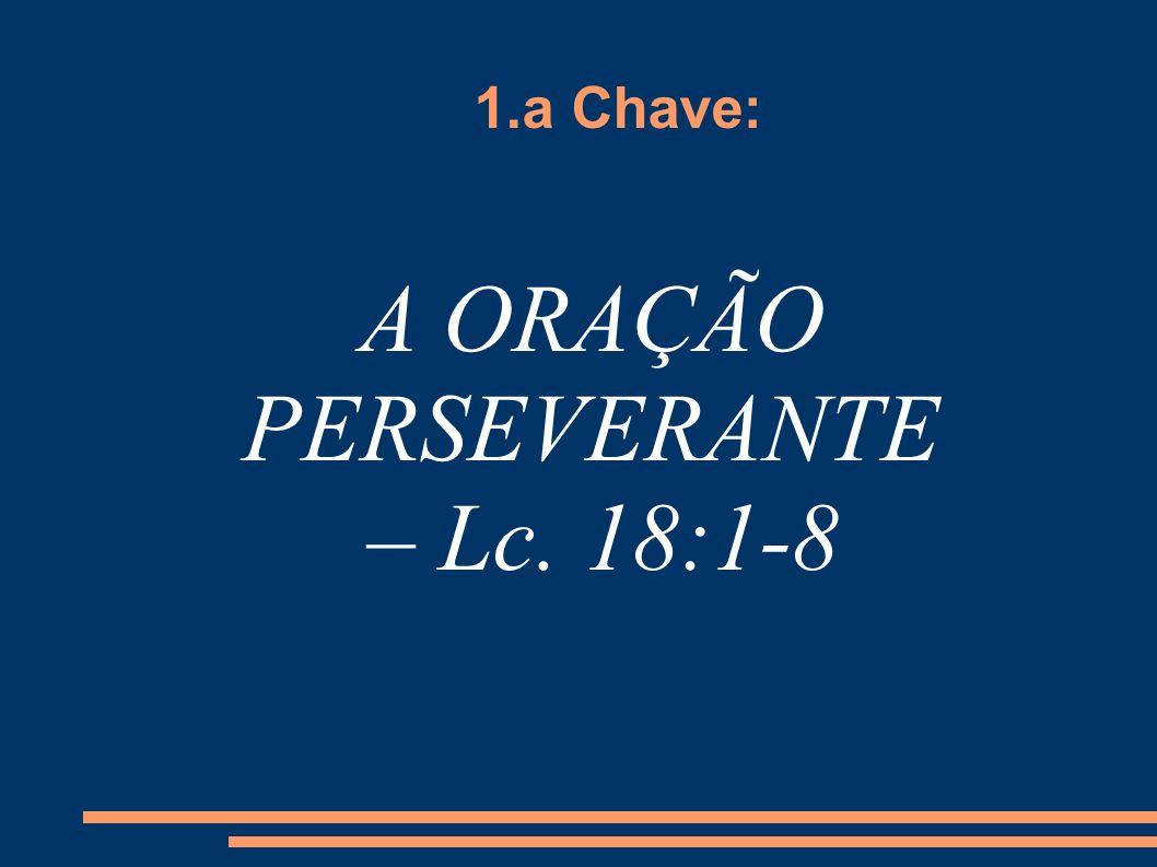 A ORAÇÃO PERSEVERANTE – Lc. 18:1-8