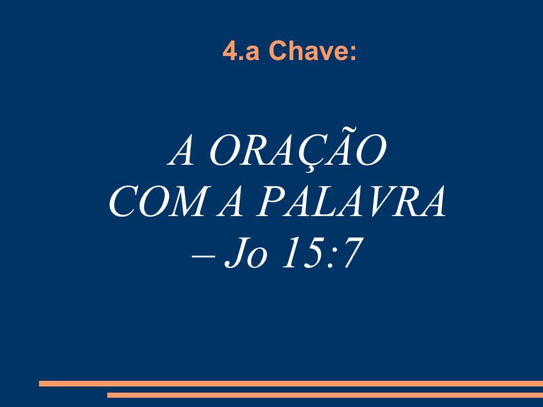 A ORAÇÃO COM A PALAVRA – Jo 15:7