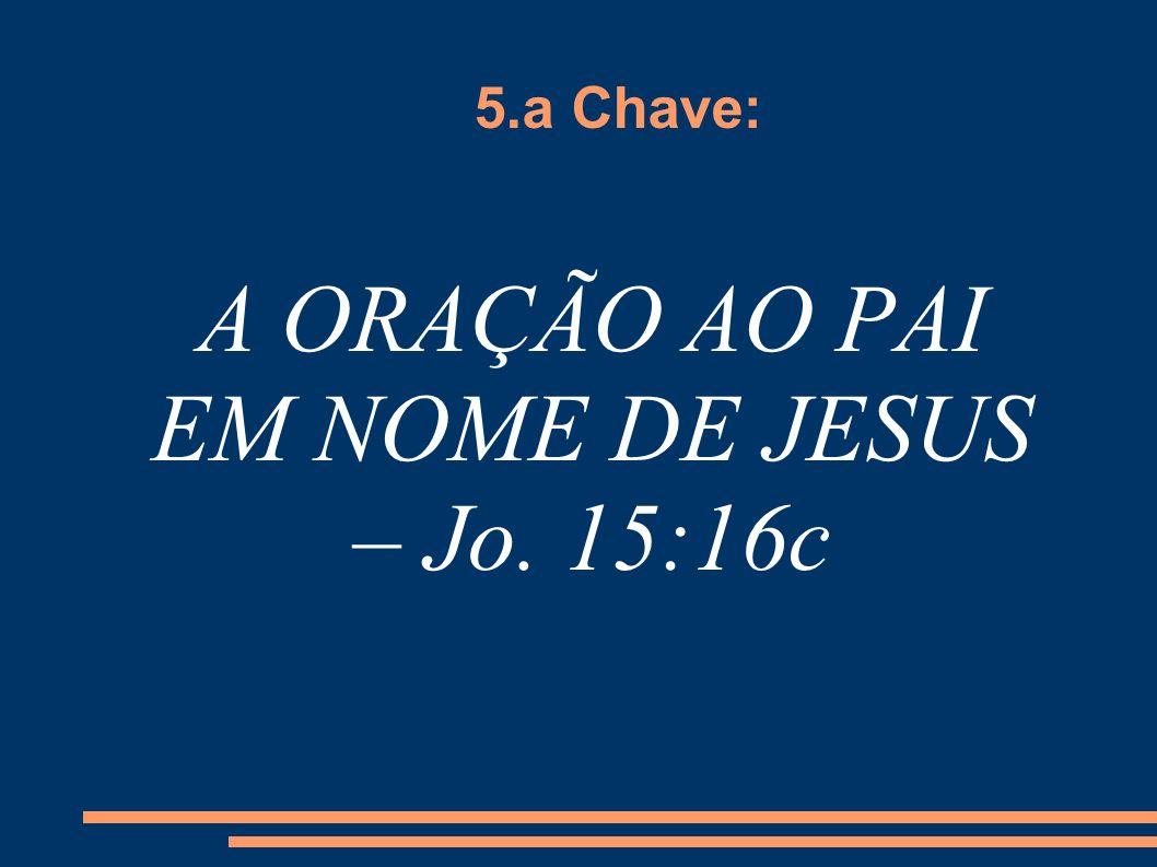 A ORAÇÃO AO PAI EM NOME DE JESUS – Jo. 15:16c
