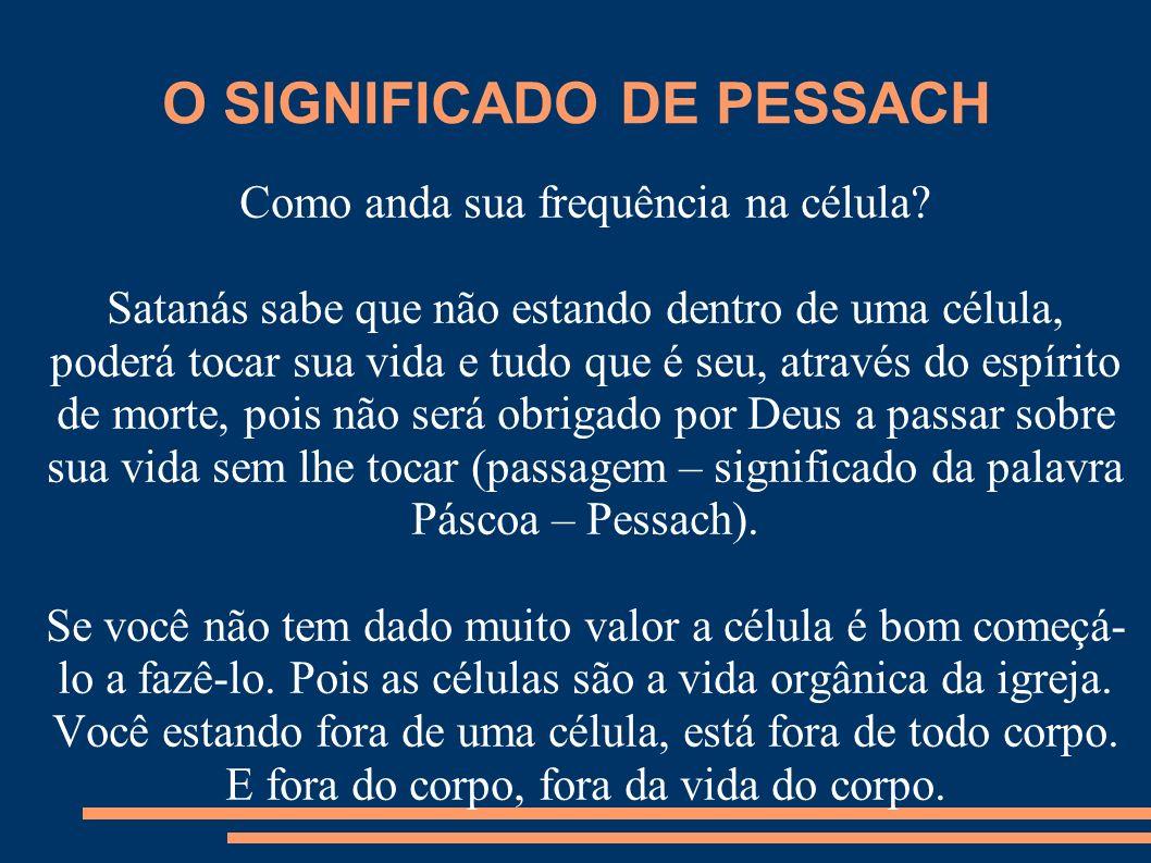 O SIGNIFICADO DE PESSACH