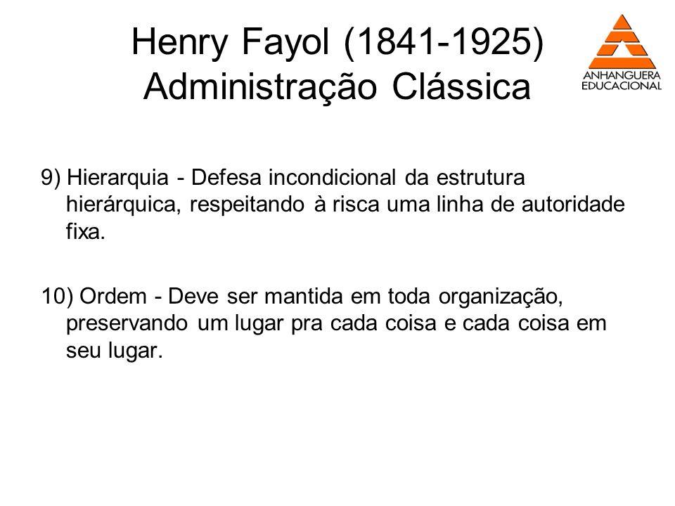Henry Fayol (1841-1925) Administração Clássica