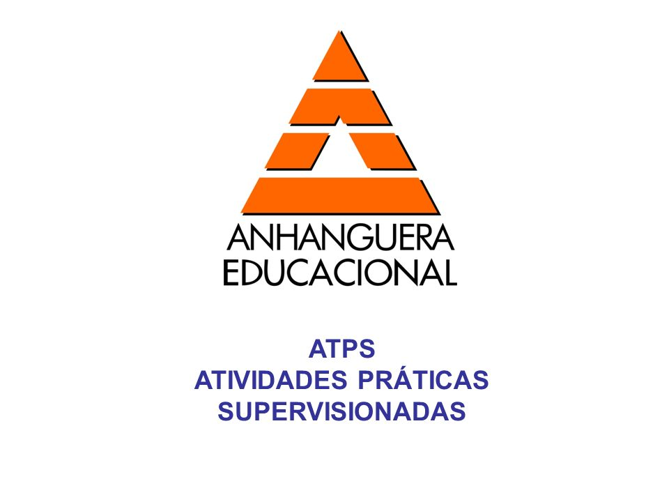 ATIVIDADES PRÁTICAS SUPERVISIONADAS