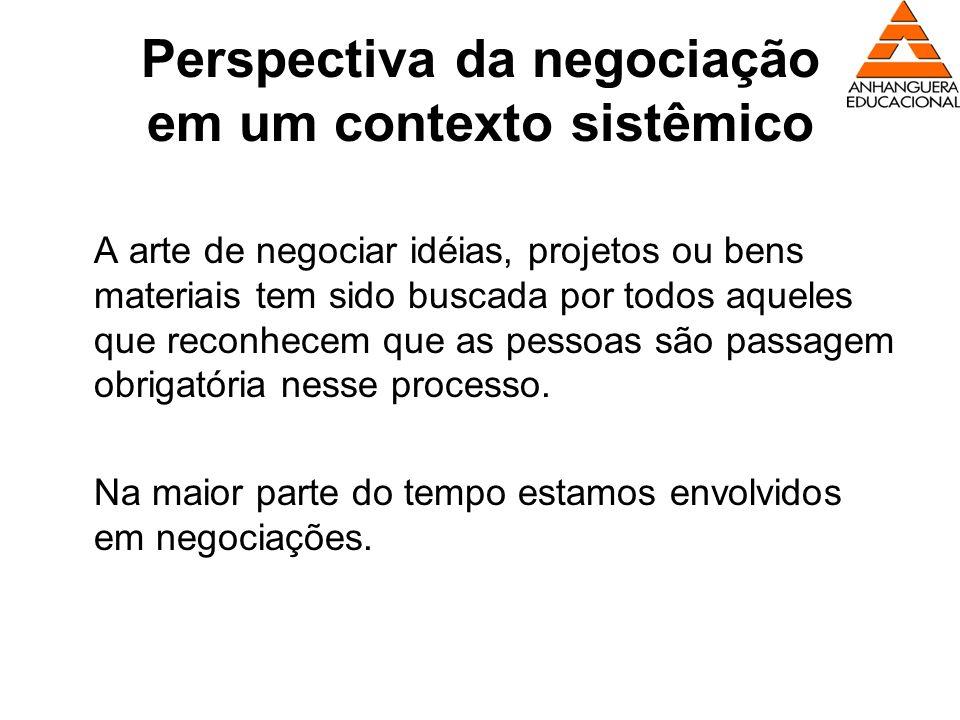 Perspectiva da negociação em um contexto sistêmico