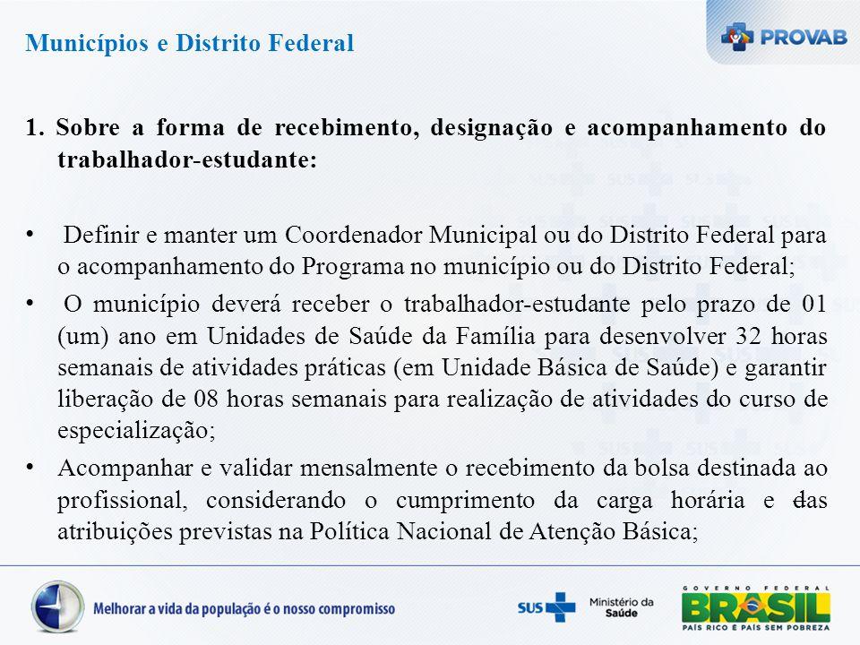Municípios e Distrito Federal