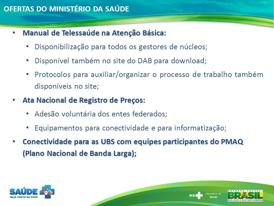 OFERTAS DO MINISTÉRIO DA SAÚDE