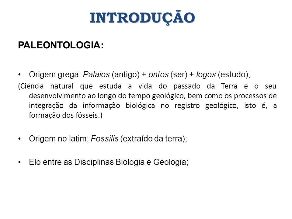 INTRODUÇÃO PALEONTOLOGIA: