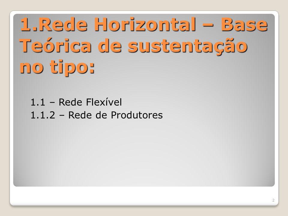 1.Rede Horizontal – Base Teórica de sustentação no tipo: