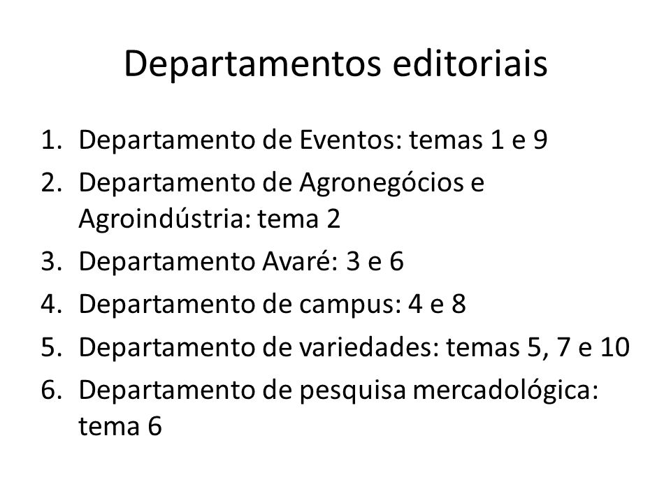 Departamentos editoriais