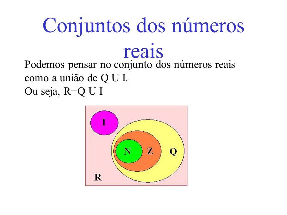 Conjuntos dos números reais