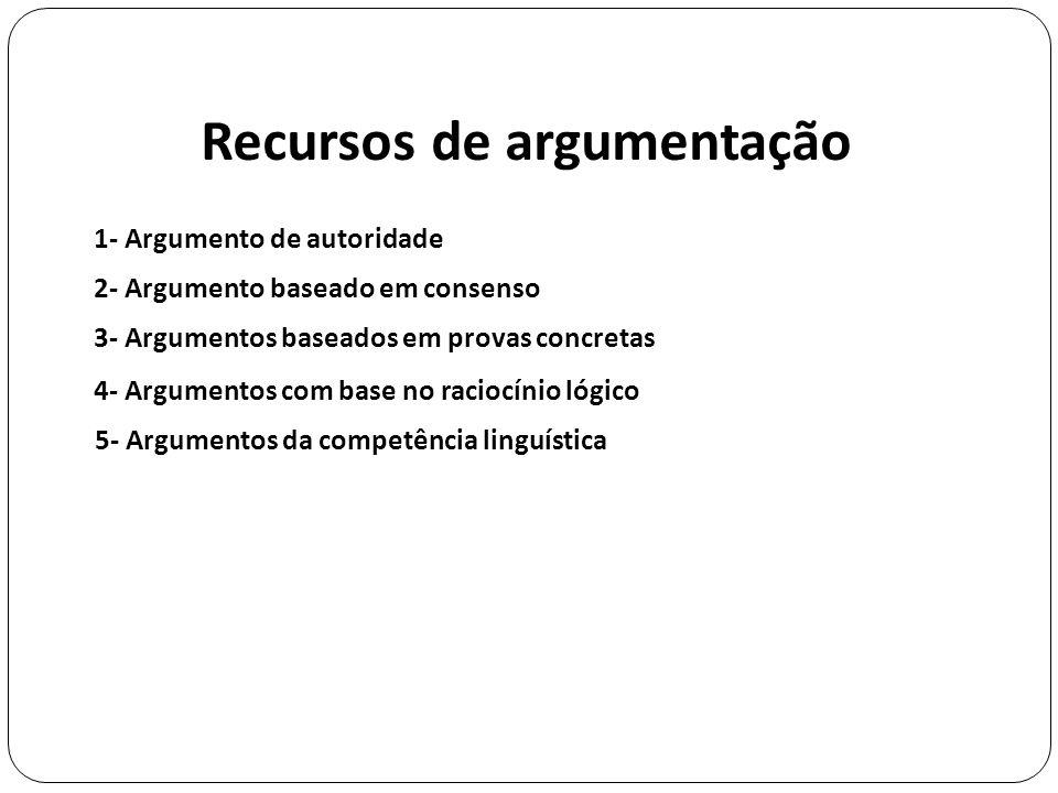 Recursos de argumentação