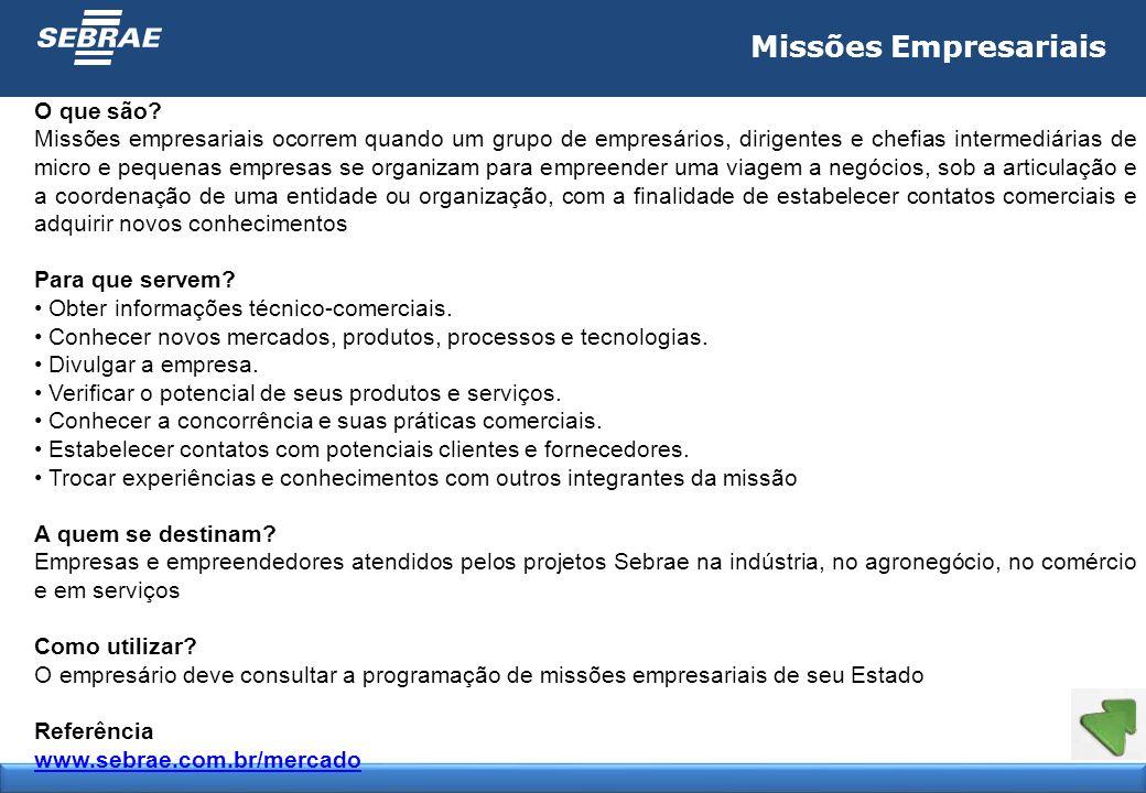 Missões Empresariais O que são