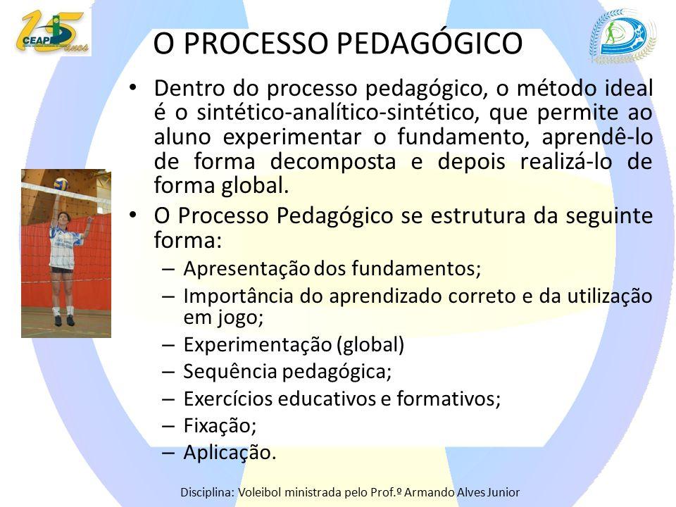 O PROCESSO PEDAGÓGICO