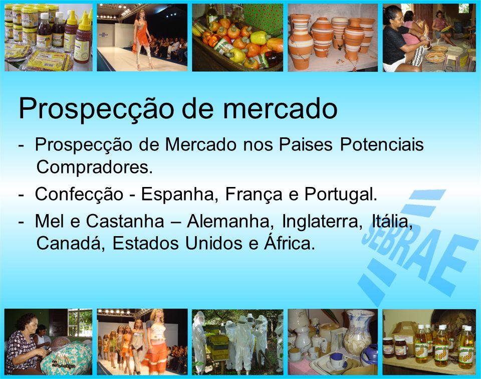 Prospecção de mercado - Prospecção de Mercado nos Paises Potenciais Compradores. - Confecção - Espanha, França e Portugal.