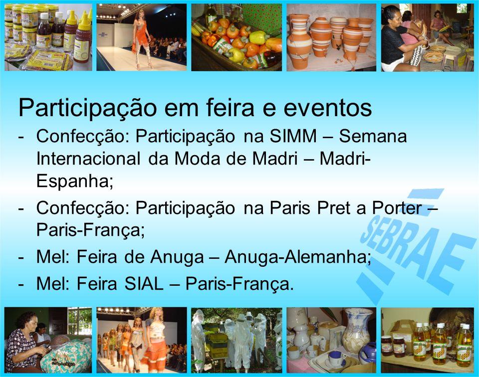 Participação em feira e eventos