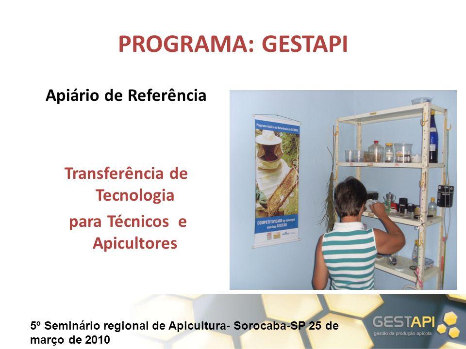 Transferência de Tecnologia para Técnicos e Apicultores