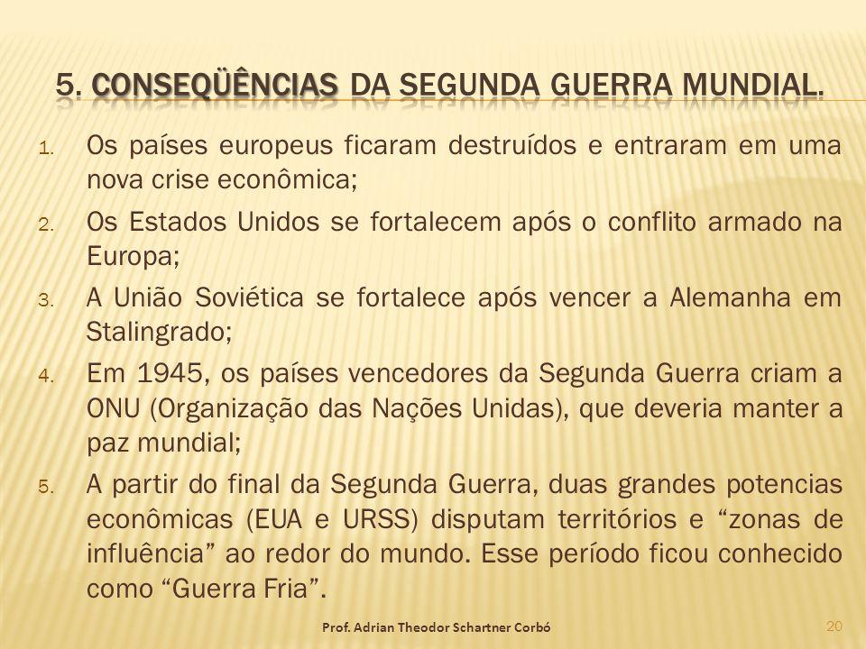 5. Conseqüências da Segunda Guerra Mundial.