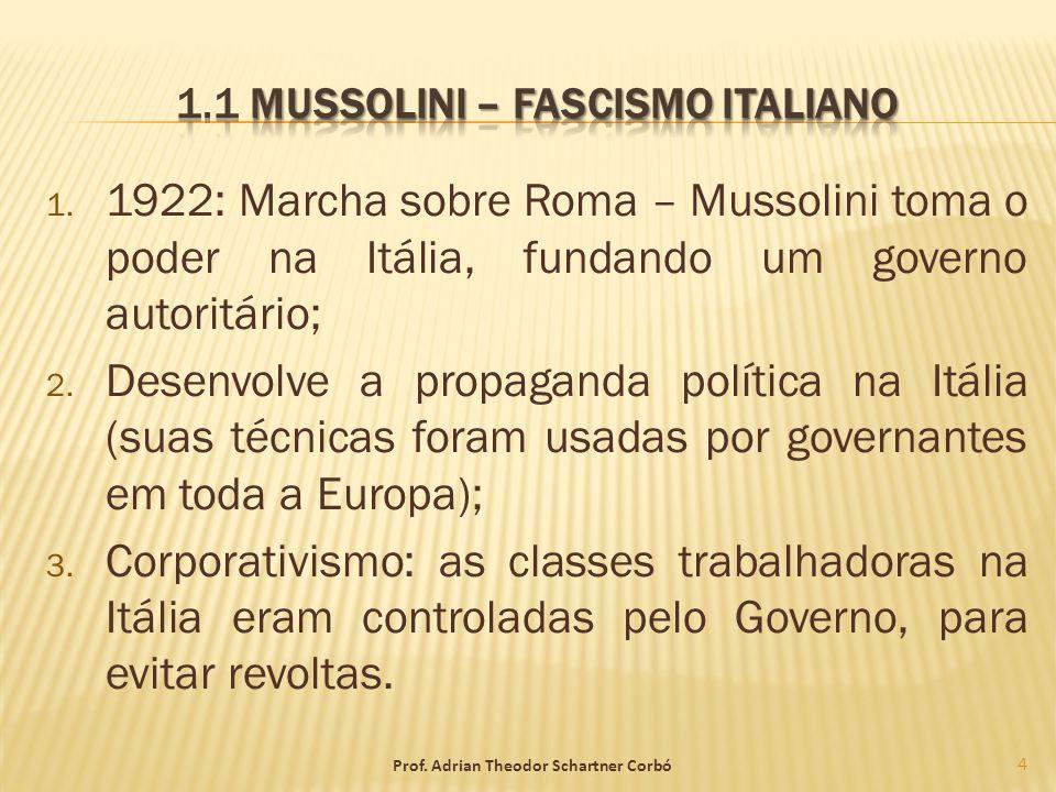 1.1 Mussolini – Fascismo Italiano