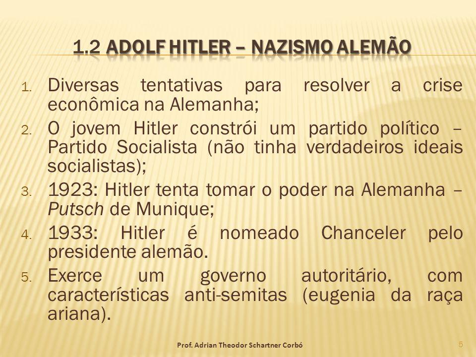 1.2 Adolf Hitler – Nazismo alemão