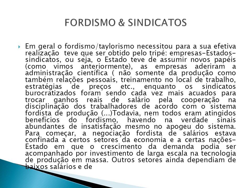 FORDISMO & SINDICATOS
