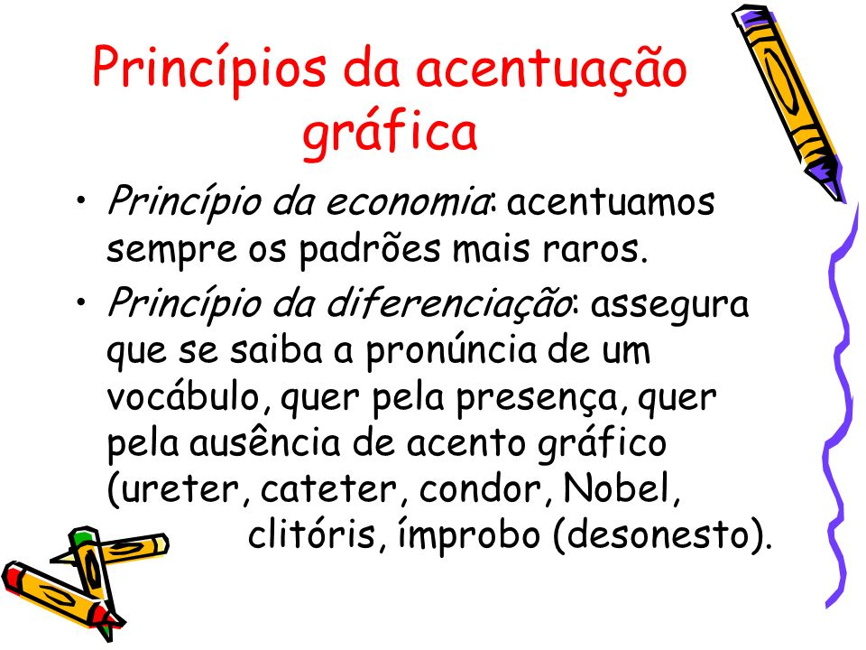 Princípios da acentuação gráfica