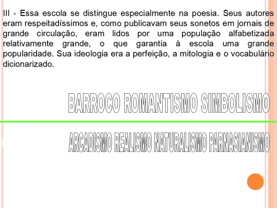 BARROCO ROMANTISMO SIMBOLISMO