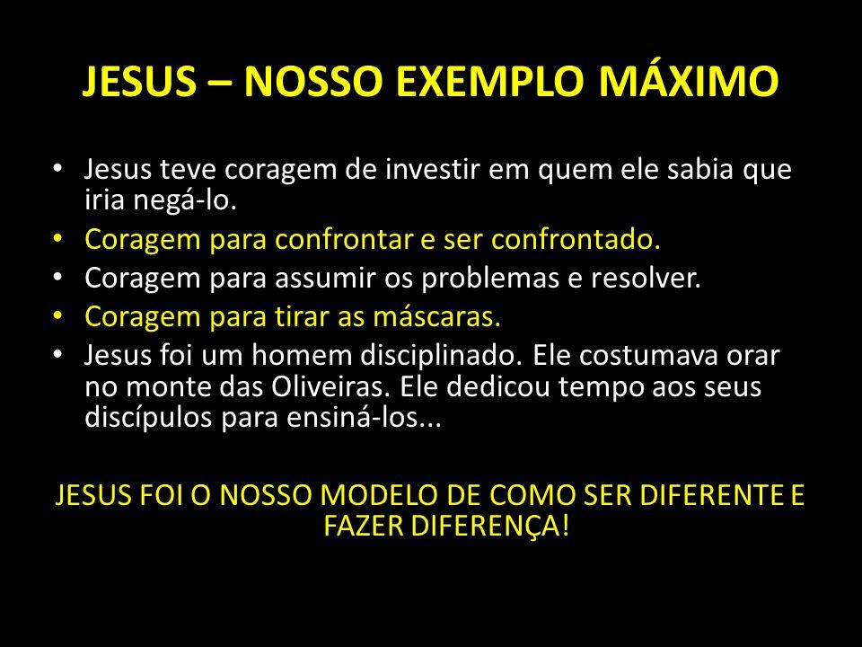 JESUS – NOSSO EXEMPLO MÁXIMO