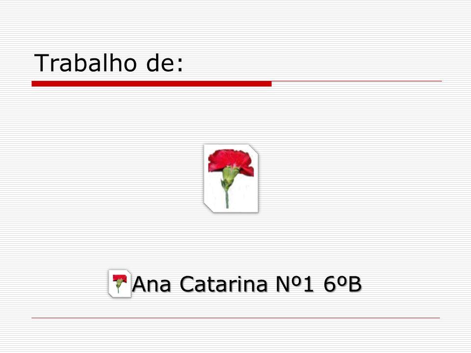 Trabalho de: Ana Catarina Nº1 6ºB