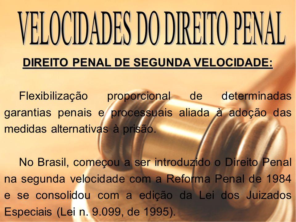 VELOCIDADES DO DIREITO PENAL