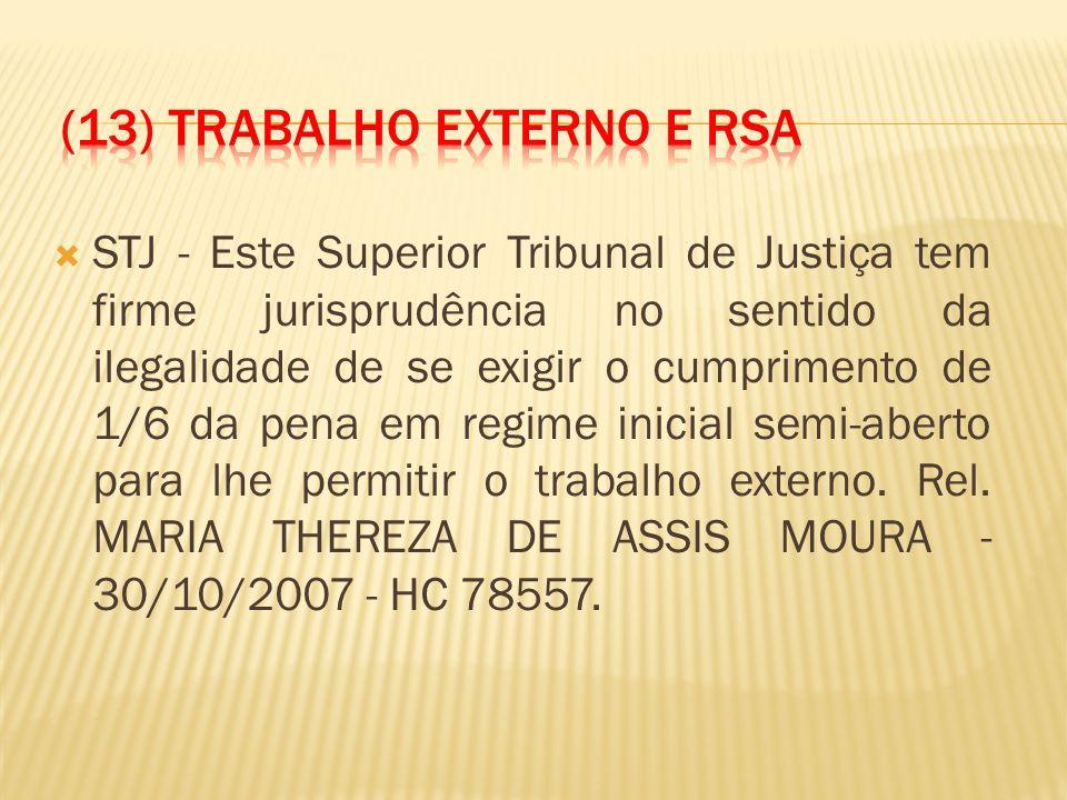 (13) Trabalho externo e RSA