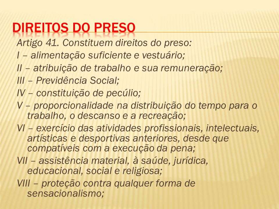 Direitos do Preso